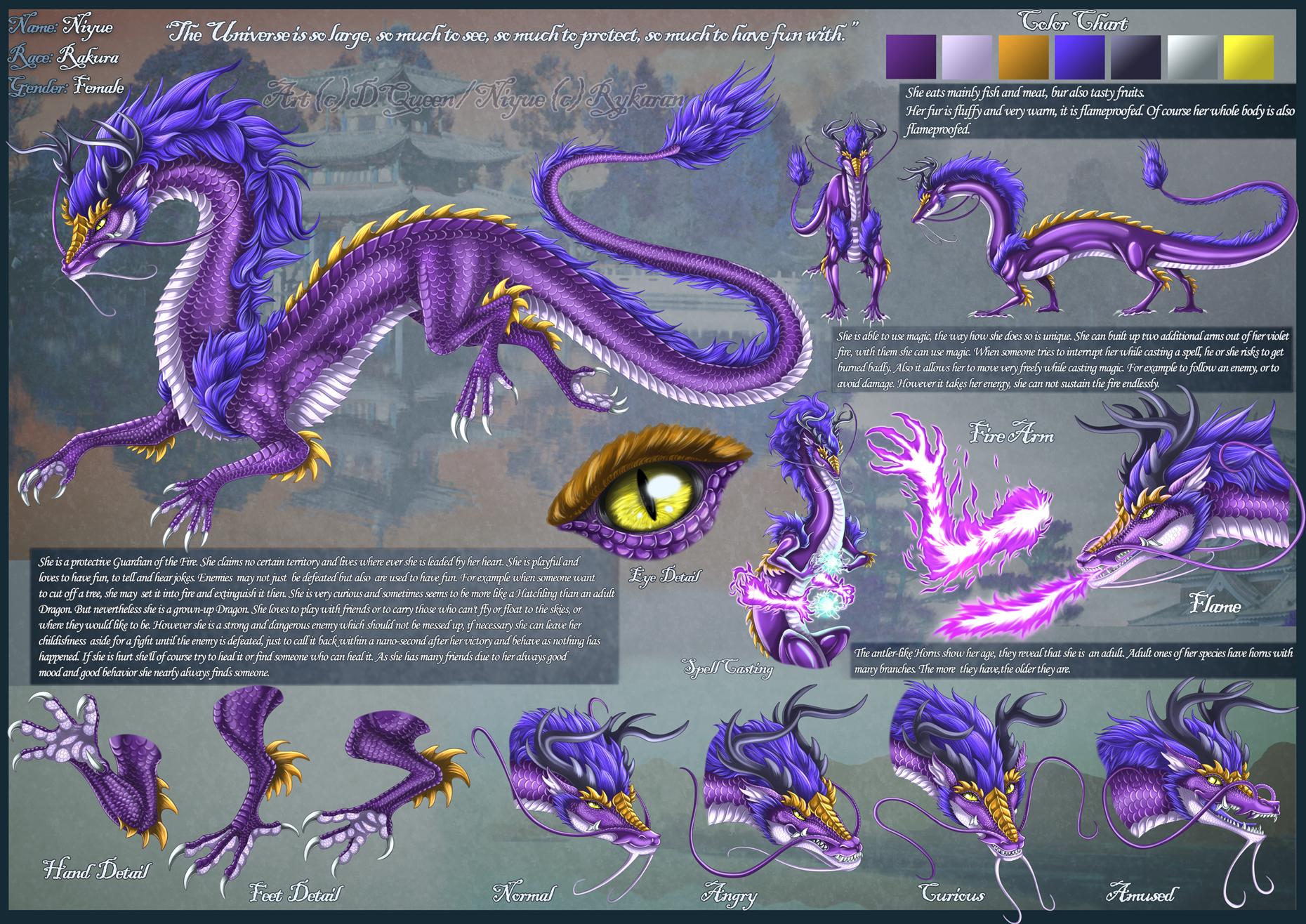 Violet Eastern Dragon