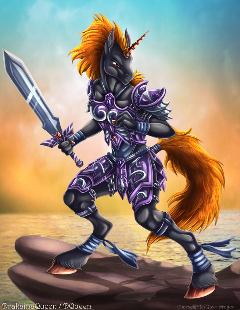 Unicorn Warrior by DrakainaQueen