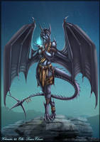 Anthro dragoness commission by DrakainaQueen