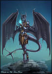 Anthro dragoness commission