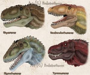 Titanic Carnivorous Dinosaurs by DrakainaQueen