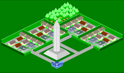 Isometric Fictional Surabaya by Belthsazar
