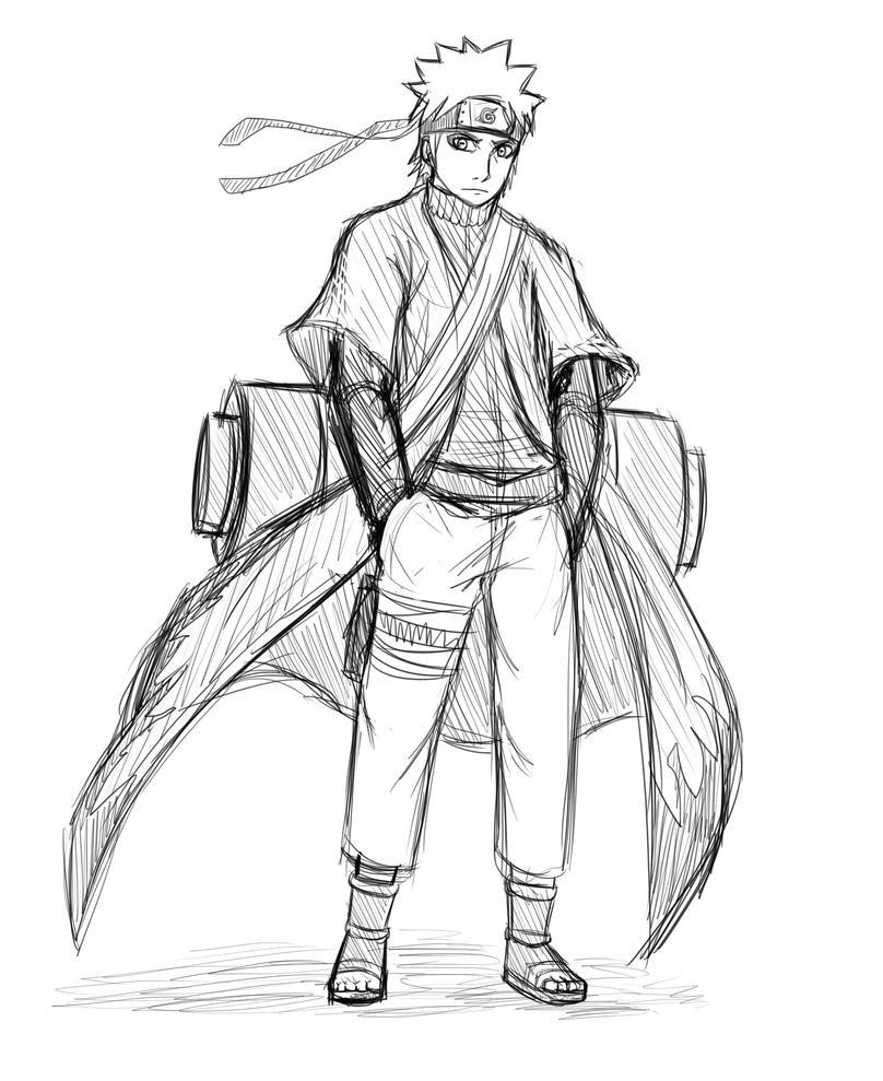 Naruto Sage Mode Sketch by Tony-Arts on DeviantArt