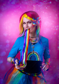 Rainbow Dash cosplay