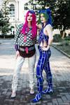 Narciso Anasui and Jolyne Cujoh cosplay by Elena89Hikari