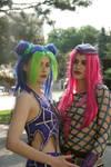 Narciso Anasui and Jolyne Kujo cosplay by Elena89Hikari
