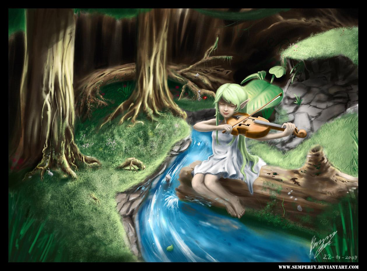 a Little Elf Girl