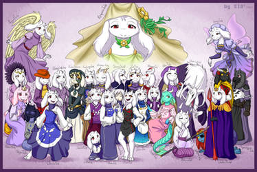 All (almost) AUs with Toriel by S1Dni
