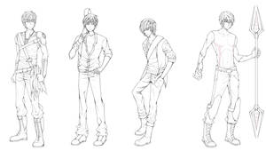 characters lineart by eonlegend