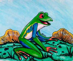 Frog character design
