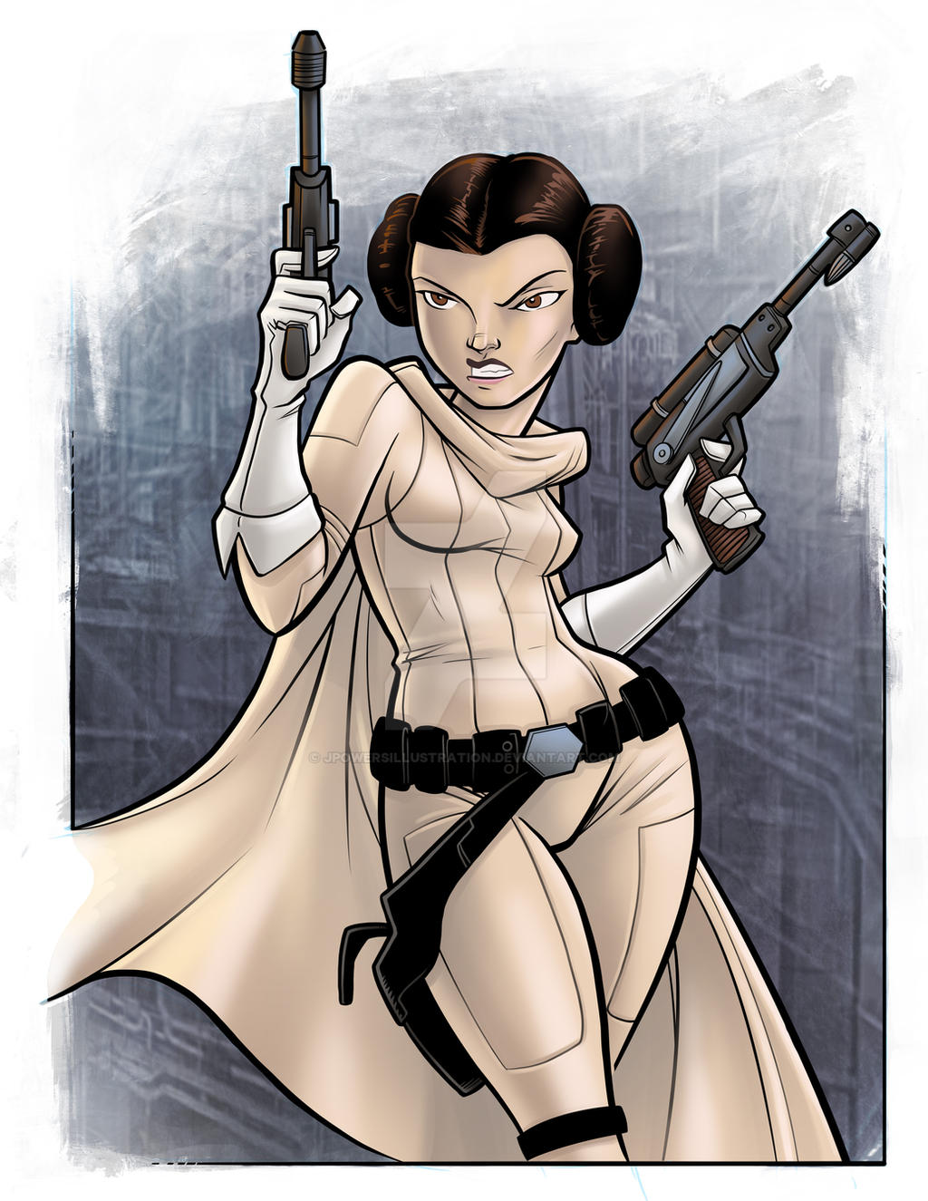 Princess Leia by jpowersillustration