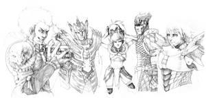 Monster Hunter - pencils by Gido