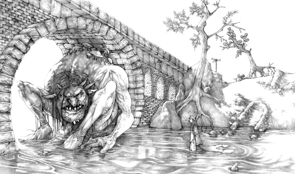 Troll Bridge - pencils by Gido