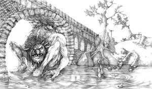 Troll Bridge - pencils by Gido