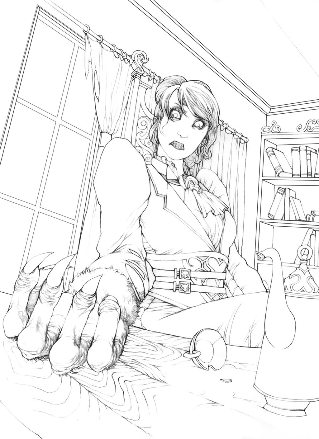 Baroness of the Wolf - pencils by Gido