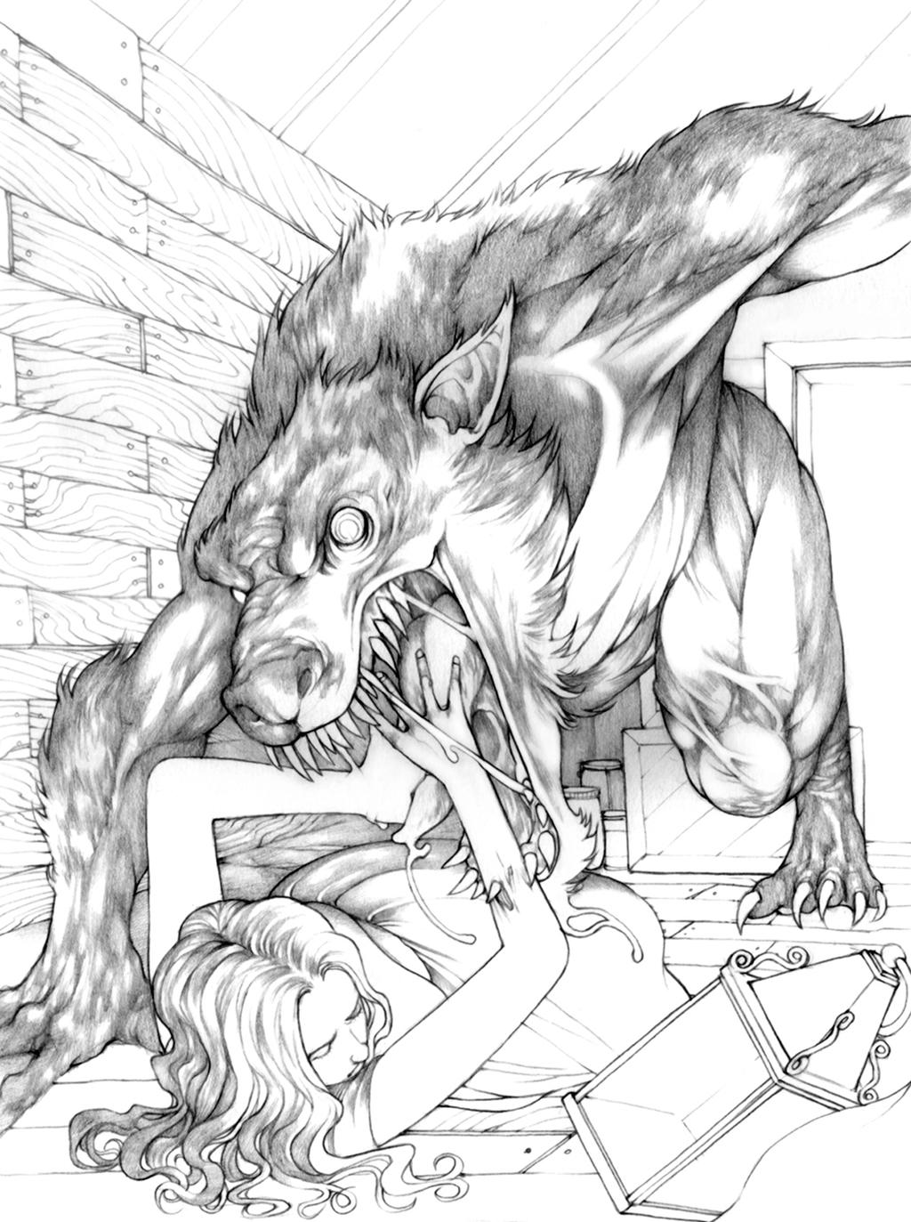 easy drawings of werewolves - photo #17