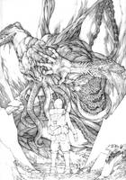 The Elder God - pencils by Gido