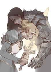 Arturia and Lancelot