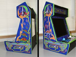 Galaga Themed Bar-top Arcade - Completed Cabinet