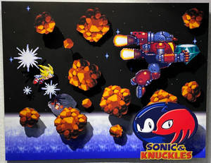 Sonic and Knuckles shadow box