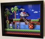 Sonic the Hedgehog Green Hill zone boss shadow box