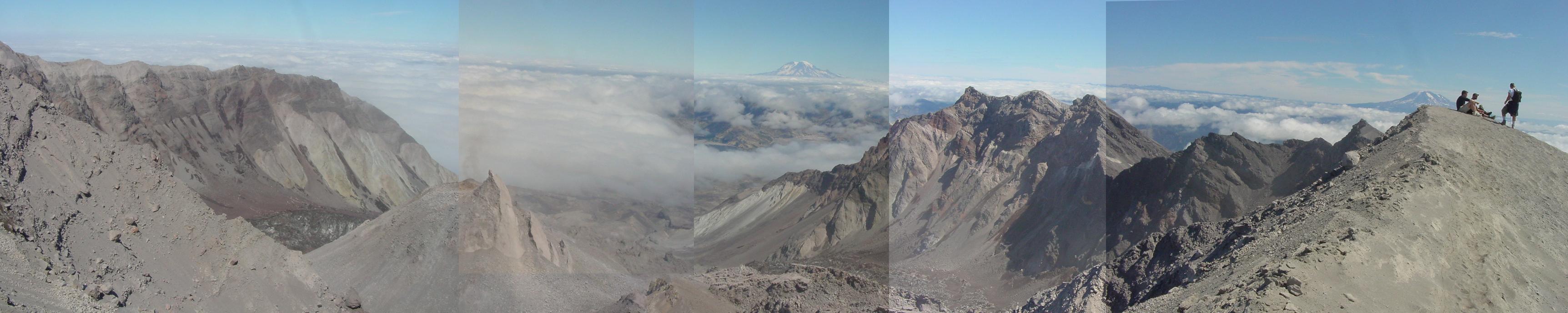 Mt St helens rim panorama