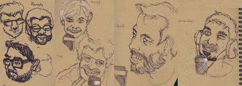 Face Studies by mazzie