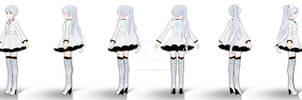 Weiss (snowpea outfit) turnaround
