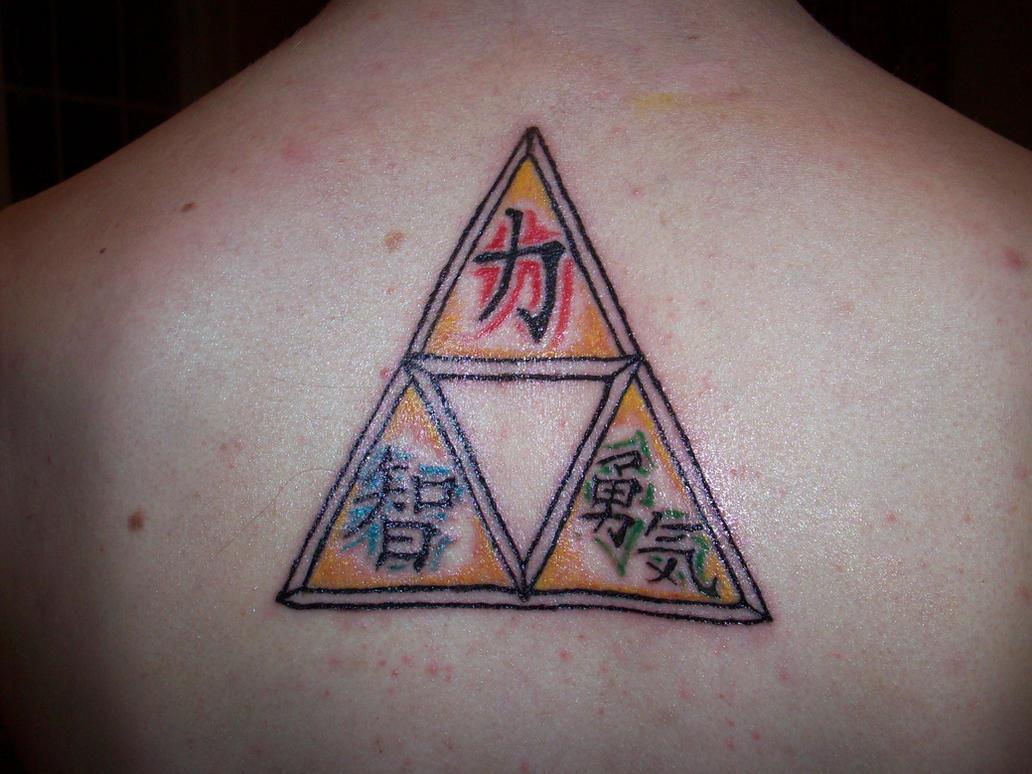 Zelda Triforce Tattoo Color