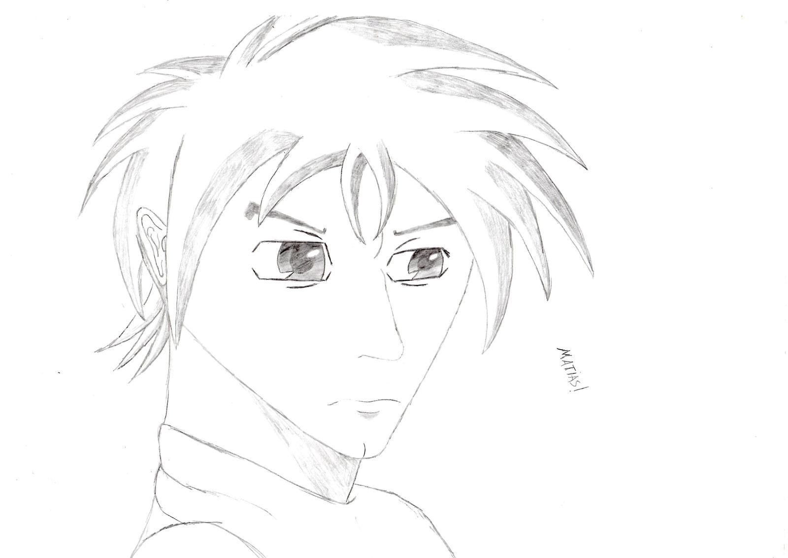 Anime boy drawing by friedrichengelh on deviantart
