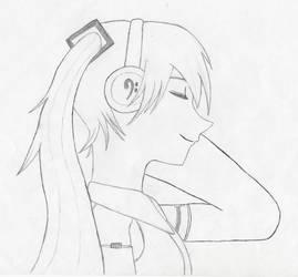 Hatsune Miku sided face