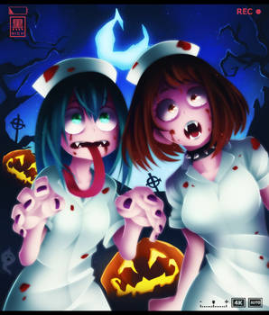 BNHA - Halloween Special Scary Waifus!
