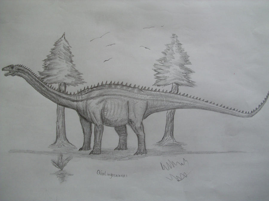 Qinlingosaurus by Teratophoneus