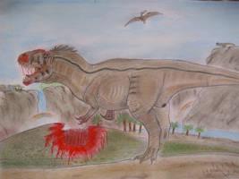 Carcharodontosaurus saharicus by Teratophoneus