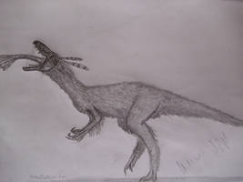 Sinocalliopteryx gigas by Teratophoneus