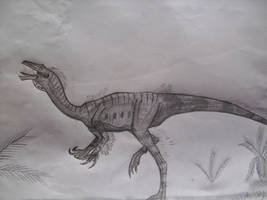 Ornithomimus edmontonicus by Teratophoneus