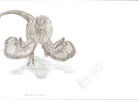 Utahraptor ostrommayosorum by Teratophoneus
