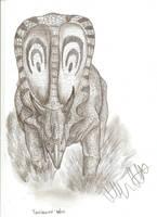 Torosaurus latus by Teratophoneus