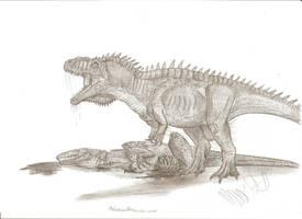 Dino Duels: Metriacanthosaurus vs Altispinax by Teratophoneus
