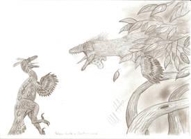 Dino Duels: Balaur vs Elopteryx by Teratophoneus
