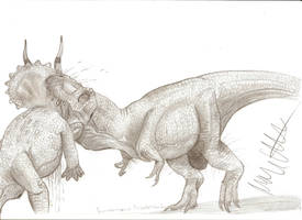 Dino Duels: Tyrannosaurus vs Triceratops by Teratophoneus