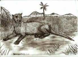 Thylacosmilus atrox by Teratophoneus