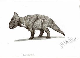 Udanoceratops tschizhovi by Teratophoneus
