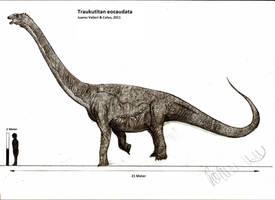 Traukutitan eocaudata by Teratophoneus