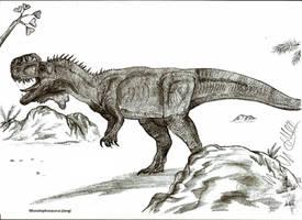 Monolophosaurus jiangi by Teratophoneus