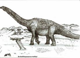 Bruhathkayosaurus matleyi by Teratophoneus