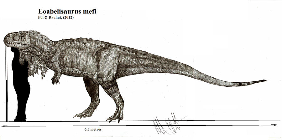 Eoabelisaurus mefi by Teratophoneus