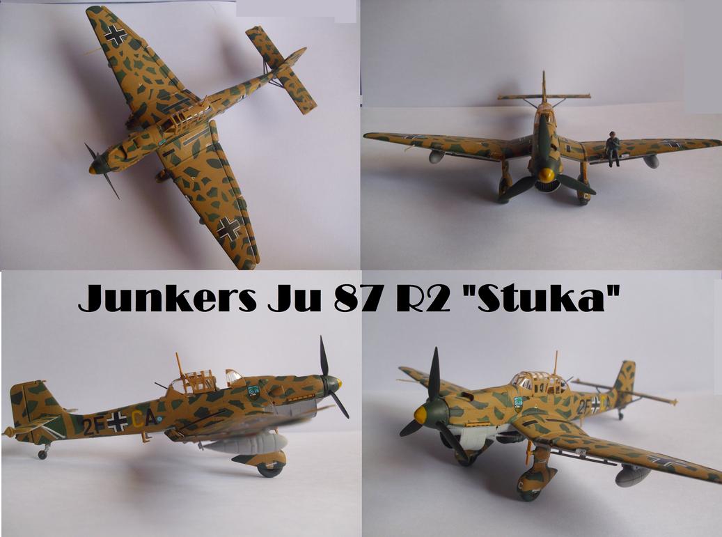 Junkers Ju 87 R2 Stuka by Teratophoneus