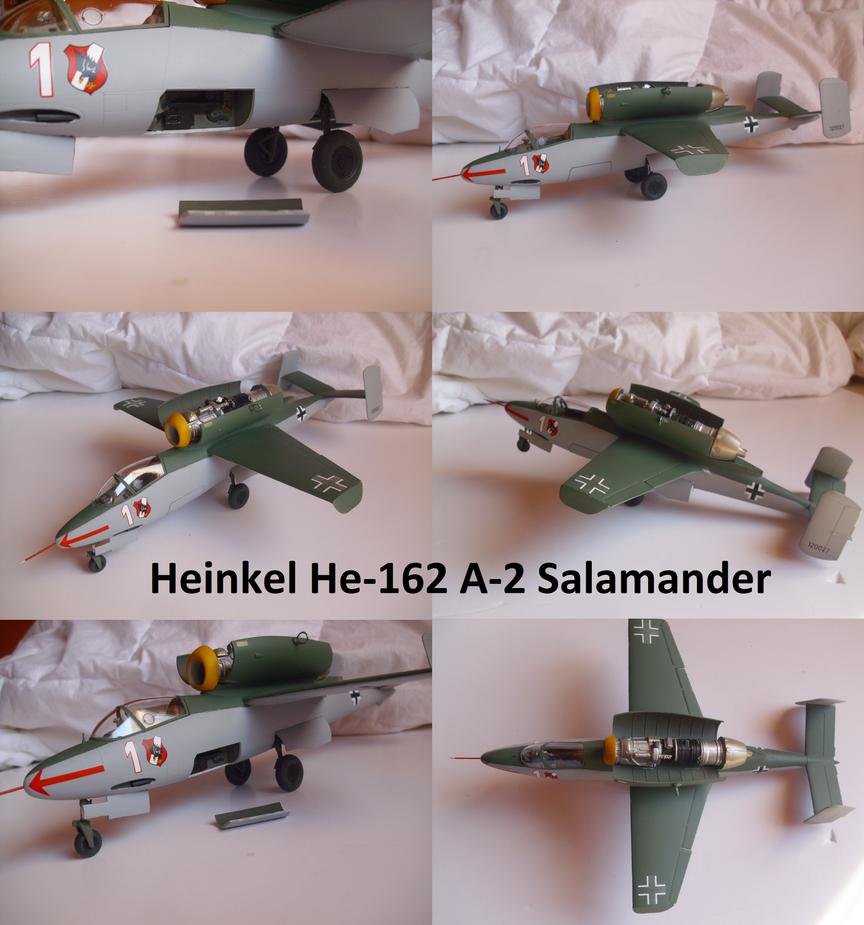 Heinkel He-162 A-2 Spatz by Teratophoneus