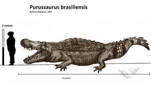 Giant crocs 01 : Purussaurus brasiliensis by Teratophoneus